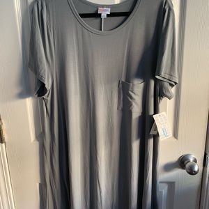 LuLaRoe Carly Dress - XL Concrete Grey